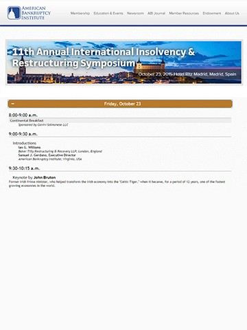 George Bazinas presented on the reform of the Greek Insolvency Law at the 11th Annual International Insolvency & Restructuring Symposium of the American Bankruptcy Institute in Madrid