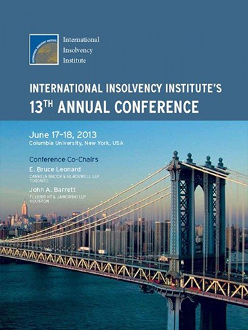 George Bazinas presented on the Eurozone Sovereign Debt Crisis at the International Insolvency Institute